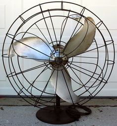"""1930s Antique EMERSON ELECTRIC Industrial FAN 3 Blade S60 WB 36"""" Steampunk RARE"""