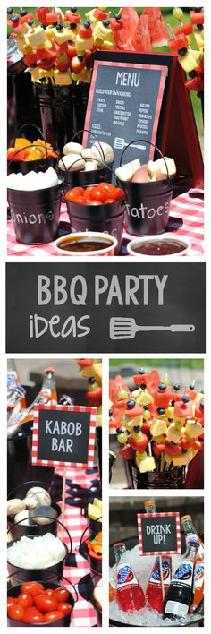 Backyard Bbq Party Menu Barbecue 19 Ideas For 2019 Parrilladas Ideas, Party Ideas, Party Fun, Party Games, Fun Games, Bbq Party Menu, Bbq Party Decorations, Birthday Bbq, Backyard Bbq