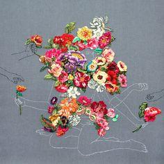 Las bonitas y crudas obras de Ana Teresa Barboza mezclando bordado y dibujo o bordado y foto.                            — Ana Teresa Barboza