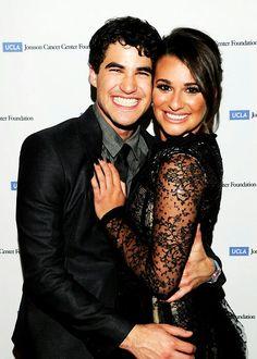 Darren Criss and Lea Michele. Darren has such a pretty smile!!!