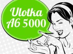 Reklamuj się! A6 5000 druk dziś wysyłka jutro!