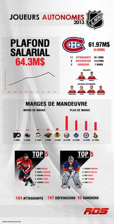 Statistiques sur les joueurs autonomes 2013  | RDS.ca