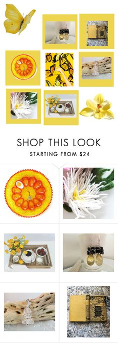 Mellow Yellow by therusticpelican on Polyvore featuring By Charlotte, modern, contemporary, rustic and vintage