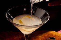 The Chunnel Recipe - CHOW (Meyer lemon, St Germain elder flower liqueur, and Hendricks gin)