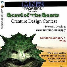 Something we liked from Instagram! Aite everyone chance to win your design our buddy are doing a contest. read below and follow the rule.. Repost this. . #Repost @weston.brownlee with @repostapp  For all you creature designers the company I work for is hosting a creature design contest. Details at the link on the picture. Help us spread the word! #3Dmodel #3dmodeling #3D #zbrush #pixologic #maya #mudbox #design #art #artist #alien #artwork #creature #creaturedesign #digital #digitalsculpture…