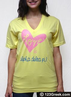 Sorority Love Is V-Neck Shirt