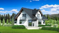 Unique Country House Plan With Four Bedrooms And Three Bathrooms - House And Decors Modern House Floor Plans, Modern Bungalow House, Bungalow House Plans, Cottage House Plans, Flat House Design, Classic House Design, Modern Architectural Styles, Double Storey House, Porch House Plans