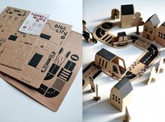 """""""BLOC CITY"""" cardboard town from Milimbo on Etsy"""
