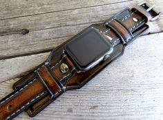 Apple Watch Band apple watch strap Brown by CuckooNestArtStudio