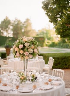 #centerpiece Photography: Greg Finck - www.gregfinck.com Read More: http://www.stylemepretty.com/2014/12/09/classic-french-chateau-wedding-in-provence/
