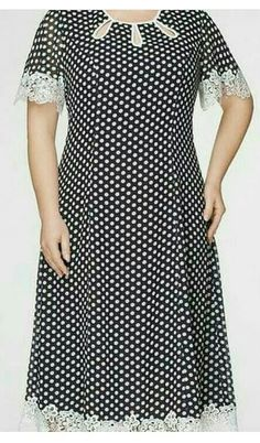 Vestidos Plus Size, Batik Dress, Polka Dots, Short Sleeve Dresses, Black And White, Womens Fashion, Clothes, Wrap Dresses, Casual Gowns