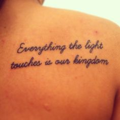 Lion King Quote amazing tattoo!!