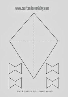 Δωρεάν Pattern Kite- great for spring poetry, contractions