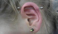 Scaffold Piercing #scaffold #piercing #ear #earpiercing