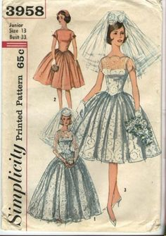 1950s Wedding Dress Pattern