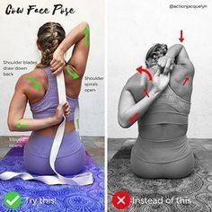 "252 Likes, 4 Comments - Yoga World (@yoga.worldz) on Instagram: ""Posted by @actionjacquelyn ✨ How to Modify COW FACE POSE, or Gomukhasana Arms This is an amazing…"""
