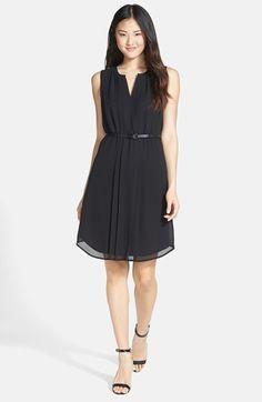 Halogen® Belted Pleat Front Dress (Regular & Petite) available at #Nordstrom