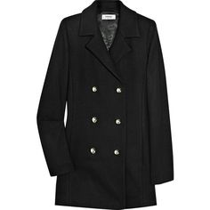 Sonia by Sonia Rykiel Double-Breasted Wool Coat (€180) ❤ liked on Polyvore featuring outerwear, coats, jackets, coats & jackets, women, double breasted wool coat, sonia by sonia rykiel, double breasted coat, woolen coat and double breasted woolen coat