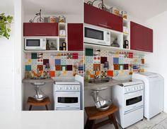 sobras de azulejos na cozinha
