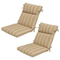 Plantation Patterns Roux Stripe Patio Dining Chair Cushion (2-Pack)-7718-02001600 at The Home Depot