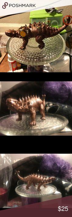 Dinosaur jewelry holder in Purple Dinosaur ring holder in metallic purple tinted gold Other