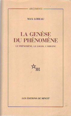 #philosophie : La Genèse Du Phénomène - Le Phénomène, Le Logos, L'origine de Max Loreau. En cause, l'état de crise dans lequel la philosophie est aujourd'hui plongée ; en vue, l'étude de conditions capables de le dénouer. Le nom dans lequel se trouvent condensés tant l'immobilisation de la réflexion que l'espoir d'une pensée nouvelle est Heidegger. Sa méthode a initialement été et, en dépit de transformations intérieures, est restée la phénoménologie. (...)