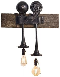 Light of my Life. repurposed vintage car horn lights