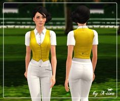 Classic Waistcoat Shirt by X-tina - Sims 3 Downloads CC Caboodle