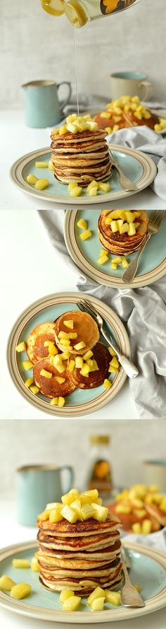 free oatmeal spelt pancakes - Light, fluffy pancakes made with oats ...