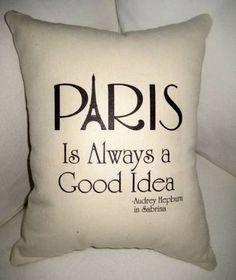 paris audrey hepburn pillow - Google Search