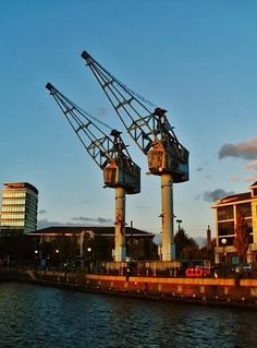 Salford Quays - The Dock Cranes