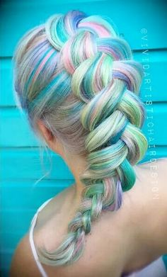 Mermaid Hair! Beautiful color and beautiful braids! This would work great with any color of Fin Fun Mermaid Tail!