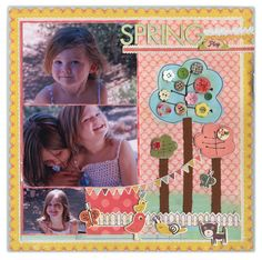 Spring Playtime from Scrapbook.com #scrapbooking #layouts #wermemorykeepers