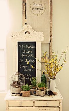 Use the frame on the dining room wall? Make a winter only insert?!   Pinterest Inspiration: October 2013