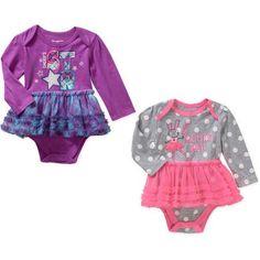Garanimals Newborn Baby Girl 2 piece Tutu Bodysuit Set - Walmart.com