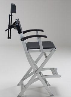 SET Anti Rollover Makeup Chair In Aluminium S105 + Headrest