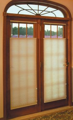 Choosing The Right Window Treatment For French Doors Can Be Easy Get Ideas For Shades For French Doors And Window Coverings For French Doors