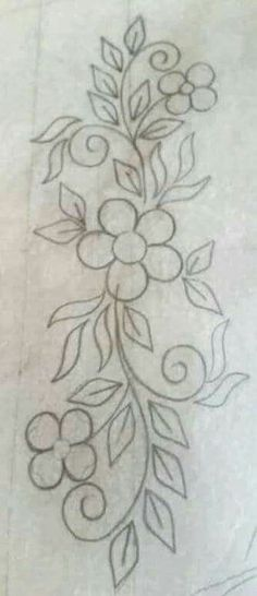 Pattern for apron embroidery Embroidery Flowers Pattern, Hand Embroidery Stitches, Hand Embroidery Designs, Applique Patterns, Embroidery Techniques, Ribbon Embroidery, Beaded Embroidery, Flower Patterns, Cross Stitch Embroidery