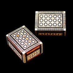 2 mother of pearl rectangular boxes 14.96€