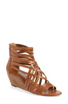 Free shipping and returns on Hinge 'Neta' Leather Wedge Sandal (Women) at Nordstrom.com. Interlaced leather straps top a breezy zip-back sandal lifted with a stacked woodgrain wedge.