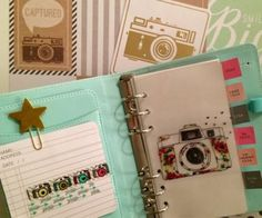 Camera Dashboard for Personal or A5 Planner - Planning To Be Happy!