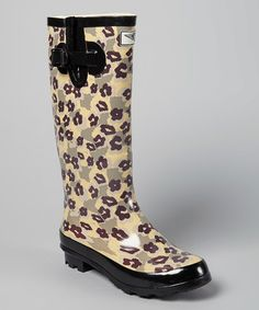 Another great find on #zulily! Gray & Purple Floral Rain Boot by Forever Young Inc. #zulilyfinds