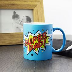 Fathers Day Gift, Super Dad MugPersonalised mug, gifts for dad, gifts for him