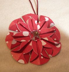 Paper flower ornament  Nov. 23, 2013