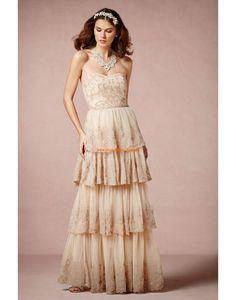 Wunderscöne Bodenlange Hochzeitskleider aus Chiffon
