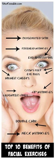 Do Facial Exercises Work? 5 Face Exercises that Really Work (Yes!) – Hillary Lloyd Do Facial Exercises Work? 5 Face Exercises that Really Work (Yes!) Get rid of wrinkles and tighten the skin with facial exercises. Do Facial Exercises Work, Face Exercises, Jowl Exercises, Anti Aging Skin Care, Natural Skin Care, Natural Face Lift, Facial Yoga, Face Facial, Facial Massage