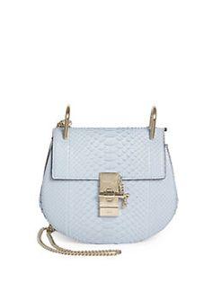 Chloé - Drew Small Python Saddle Crossbody Bag