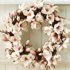 Magnolia wreathe for spring