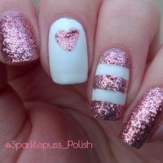 More #ValentinesNails! #valentine #valentinesday #hearts #heart #glitter #pink #sparkle #sparkly #nails #nailpolish #nailporn #nailswag #nailsdid #alltheprettynails #prettynails #naturalnails #nailsonpoint #nailart #nailartfeature #nailsofig #nailsofinstagram #nailstagram #instanails #beauty