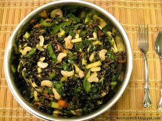 Wild Rice Salad with Cashews and Lemon-Mint Dressing